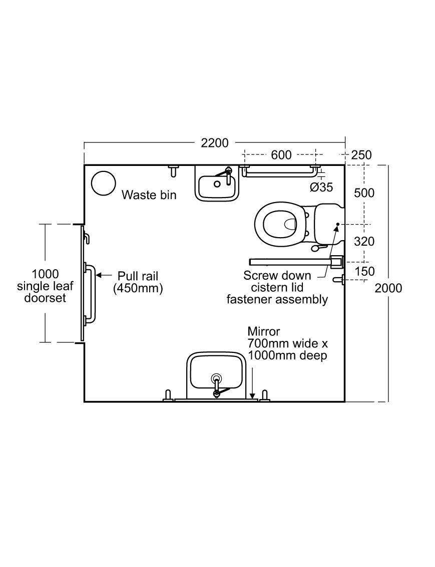 Toilet Changing Room Door//Wall Sign Bathroom Black 100mm Round Washroom