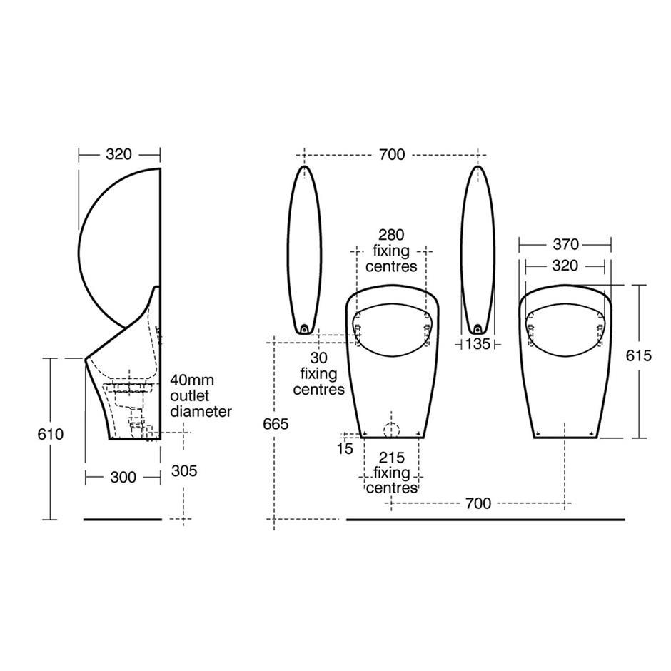 Aridian Bowl Waterless Urinal Waterless Urinals Bluebook
