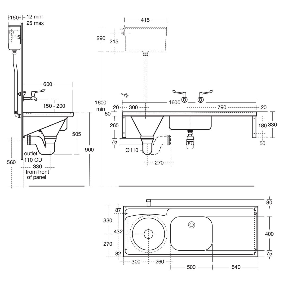 Hbn 00 10 Htm64 Du Hs Dee Back Inlet Slop Hopper Stainless Steel Wiring Diagram For Connector 1450 Download