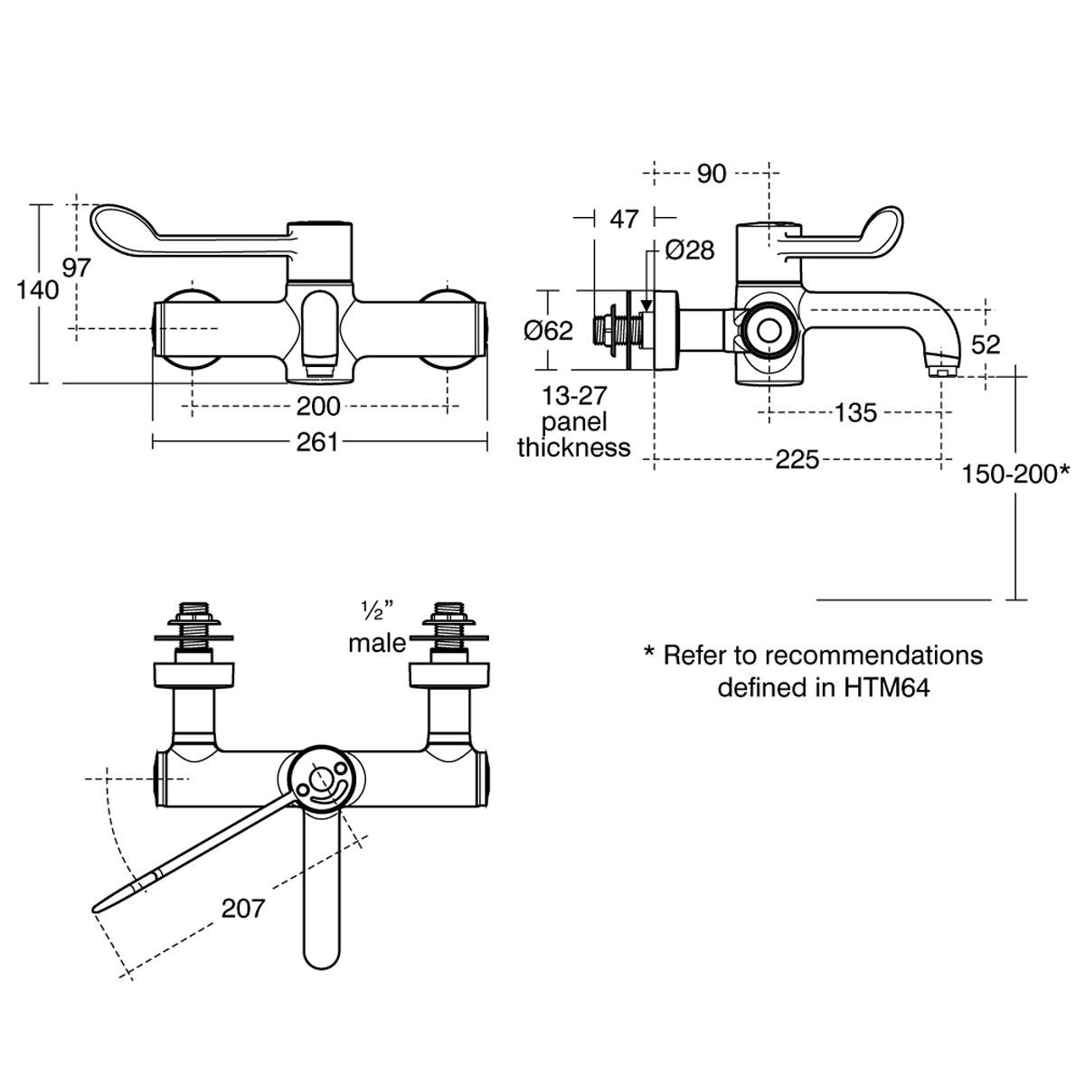 Kitchen Faucet To Garden Hose Adapter Hbn 00 10 Htm64 Lb H M L Contour 21 Washbasin Lever