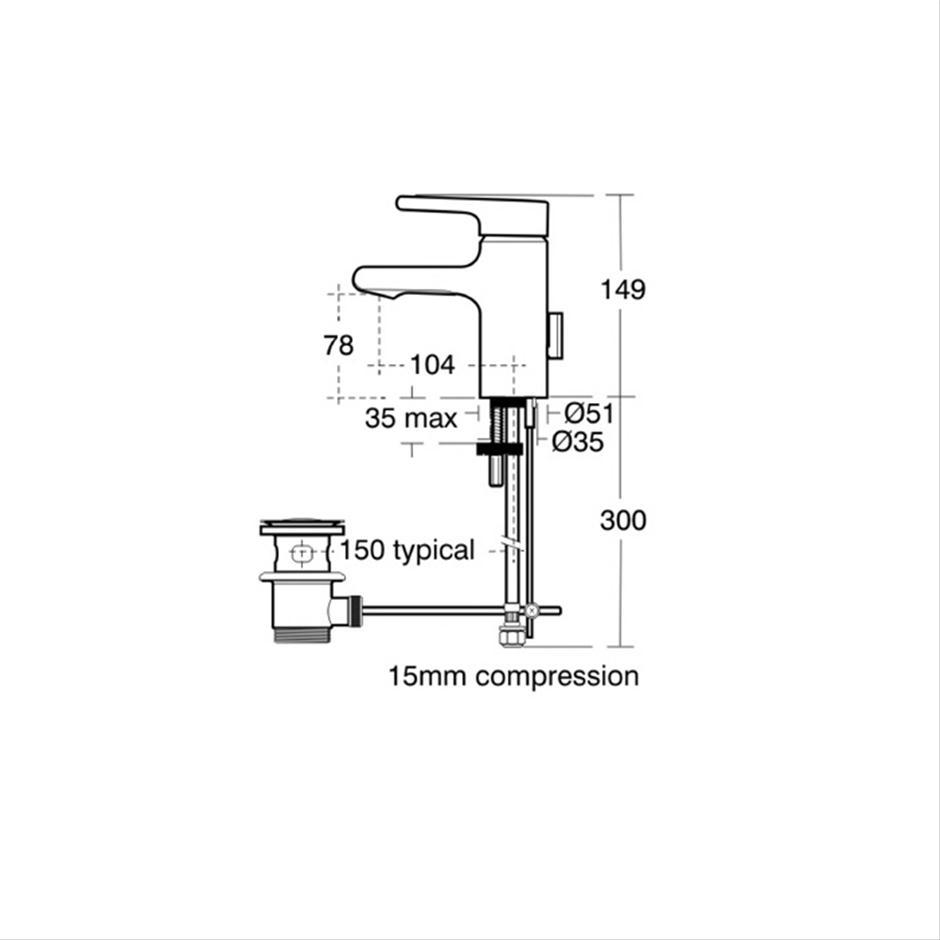 attitude basin classic outlet mixer
