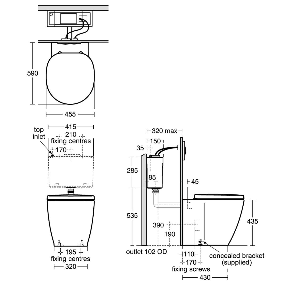 toilet bowl drawing