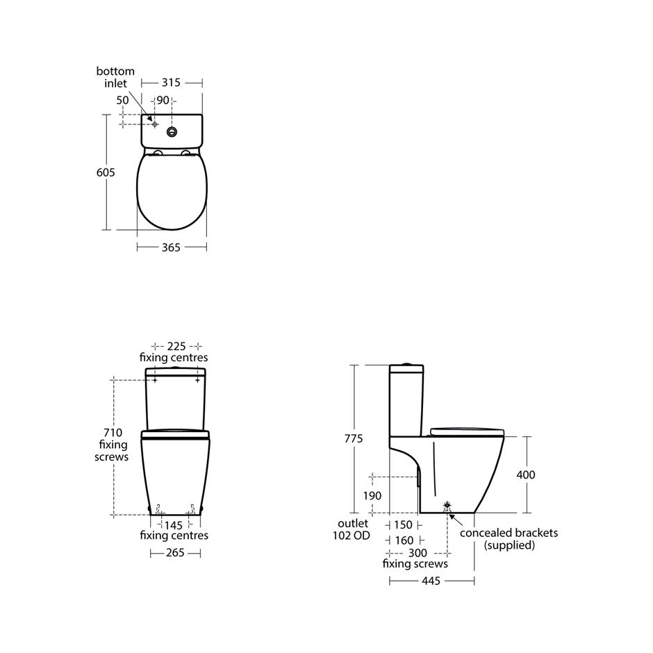 Concept Space Compact Close Coupled WC Suite - Corner