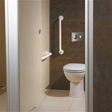 Contour 21+ back to wall rimless WC pan with raised horizontal outlet and anti-microbial glaze