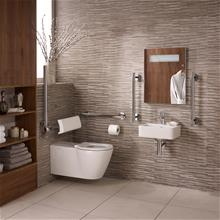 Concept Freedom ensuite bathroom pack with 40cm basin & extended wall hung WC