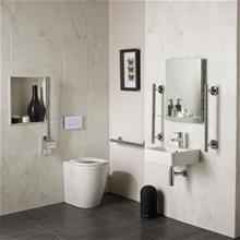 Concept Freedom Ensuite Bathroom Pack with 40cm Basin & Raised Height Standard Projection Back-to-wall WC