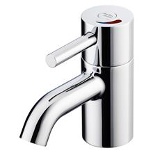 Contour 21+ Outline 1 hole thermostatic basin mixer, single sequential lever with flexible tails