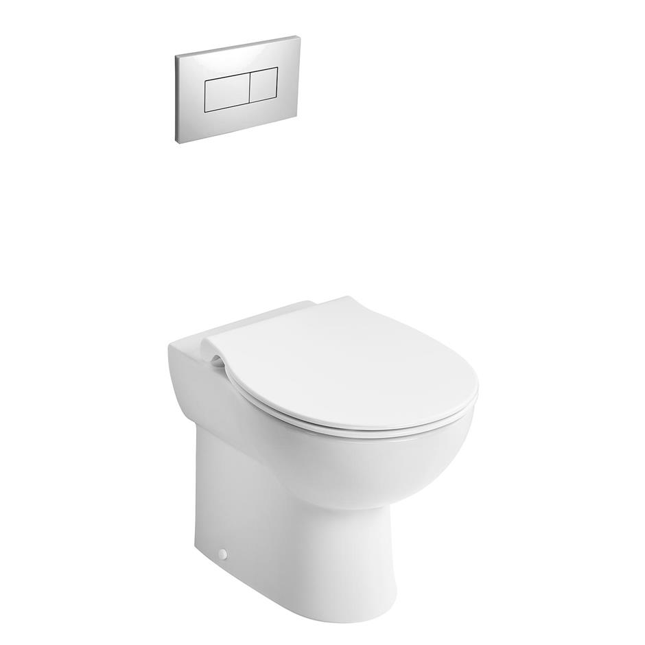 Contour 21+ Back to Wall Rimless WC Suite | Back To Wall