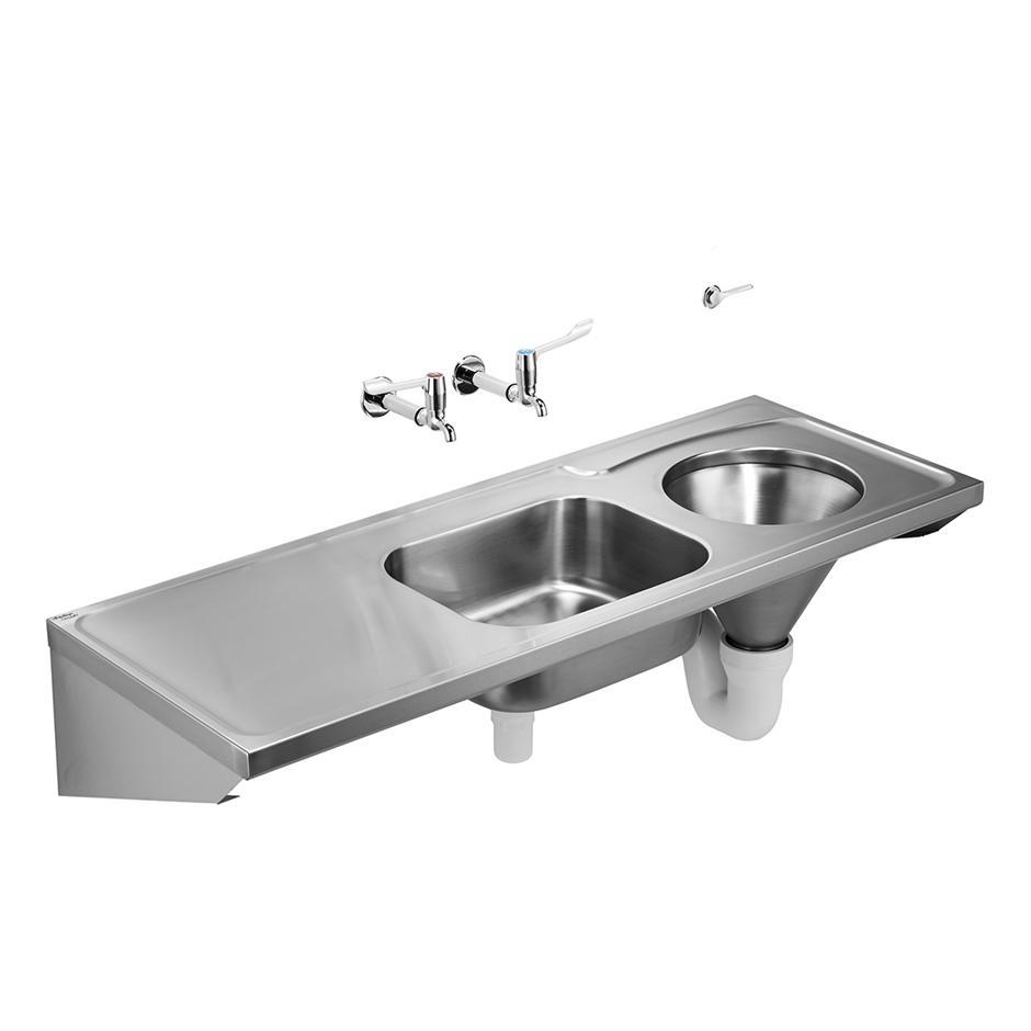 HBN 00 10 HTM64 (DU HS) Dee Back Inlet Slop Hopper | Stainless Steel | Sinks  | Bluebook