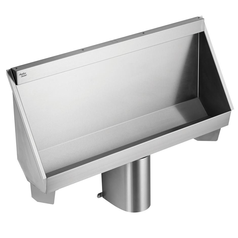 kinloch trough urinal central outlet trough or slab urinals bluebook. Black Bedroom Furniture Sets. Home Design Ideas