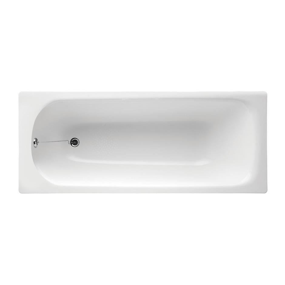 Nisa Lowline Steel Bath 170cm No Taphole No Handgrips