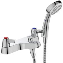 Sandringham 21 bath shower mixer 2 hole with shower set, lever handles