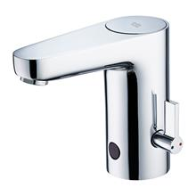 Sensorflow Wave 1 hole basin mixer with temperature control, mains