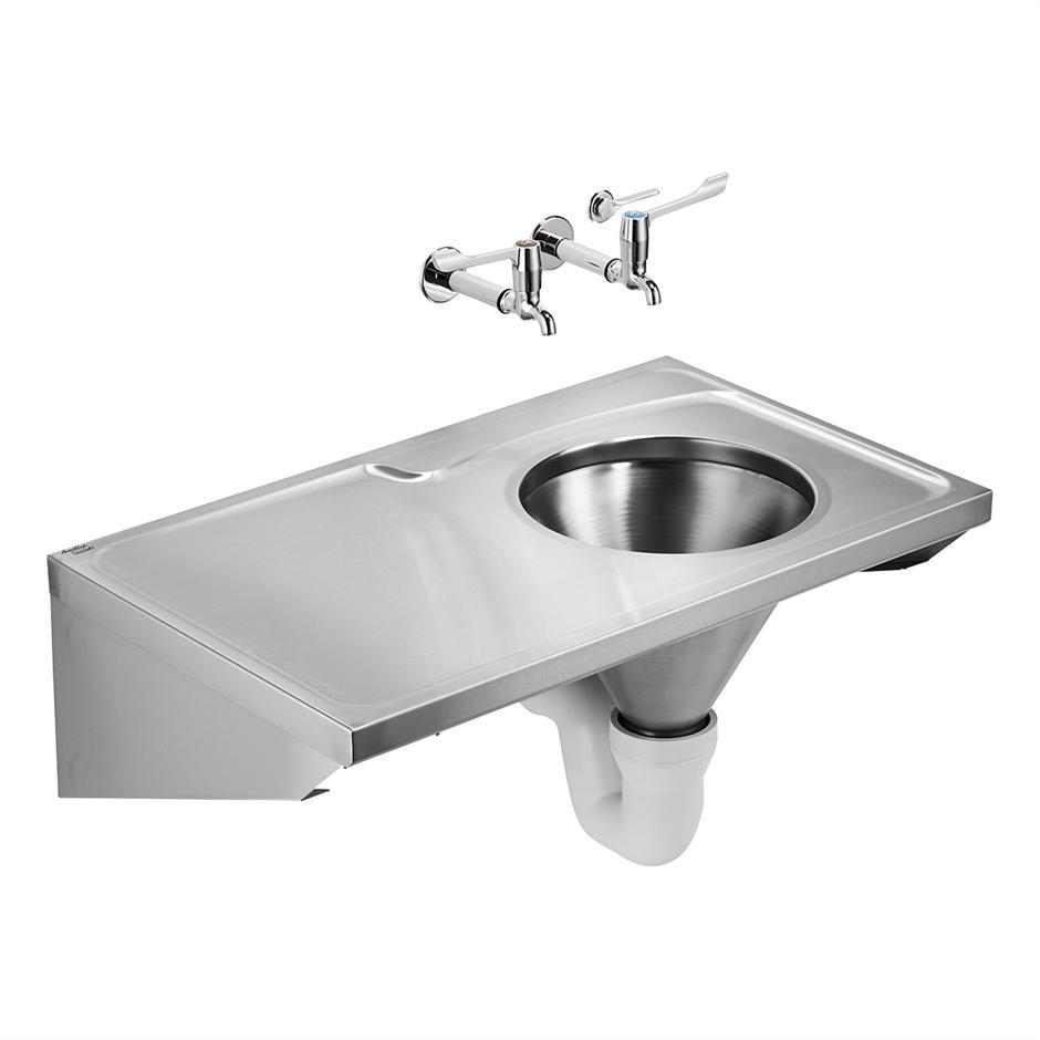 HBN 00 10 HTM64 (DU H) Stirling Back Inlet Slophopper | Stainless Steel |  Sinks | Bluebook