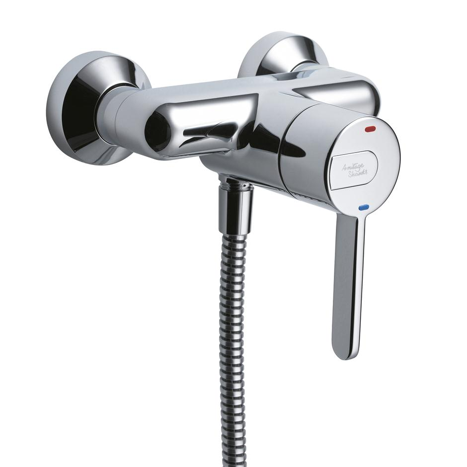 Contour 21 Exposed Sequential Shower Mixer Extended Lever | Mixers ...