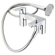 Concept Air 2 tap hole bath shower mixer, single lever