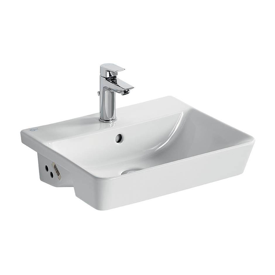 concept air cube 50cm semi countertop washbasin semi. Black Bedroom Furniture Sets. Home Design Ideas