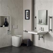 Concept Freedom ensuite bathroom pack with 60cm basin & raised height standard projection back-to-wall WC