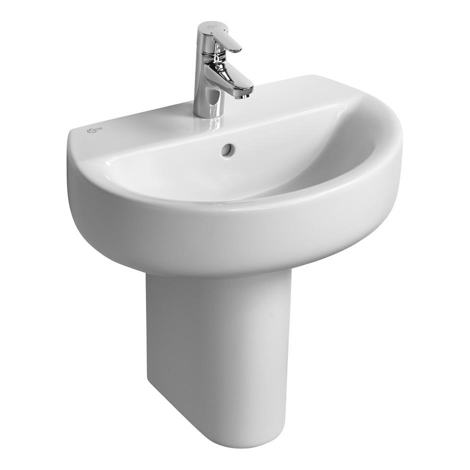 Elegant Concept Space Sphere 55cm Washbasin   Short Projection | Pedestal Or Wall |  Washbasins | Bluebook