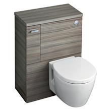 Concept Space 600 WC unit with adjustable cistern for 6/4 or 4/2.6 litre flush, left hand storage cupboard