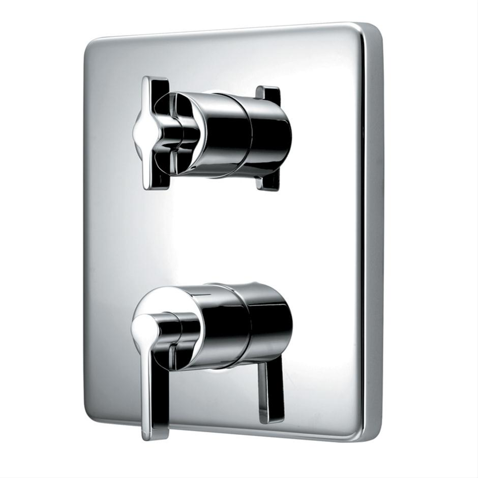 TT Silver Built-in Thermostatic Shower Mixer | Mixers | Shower ...