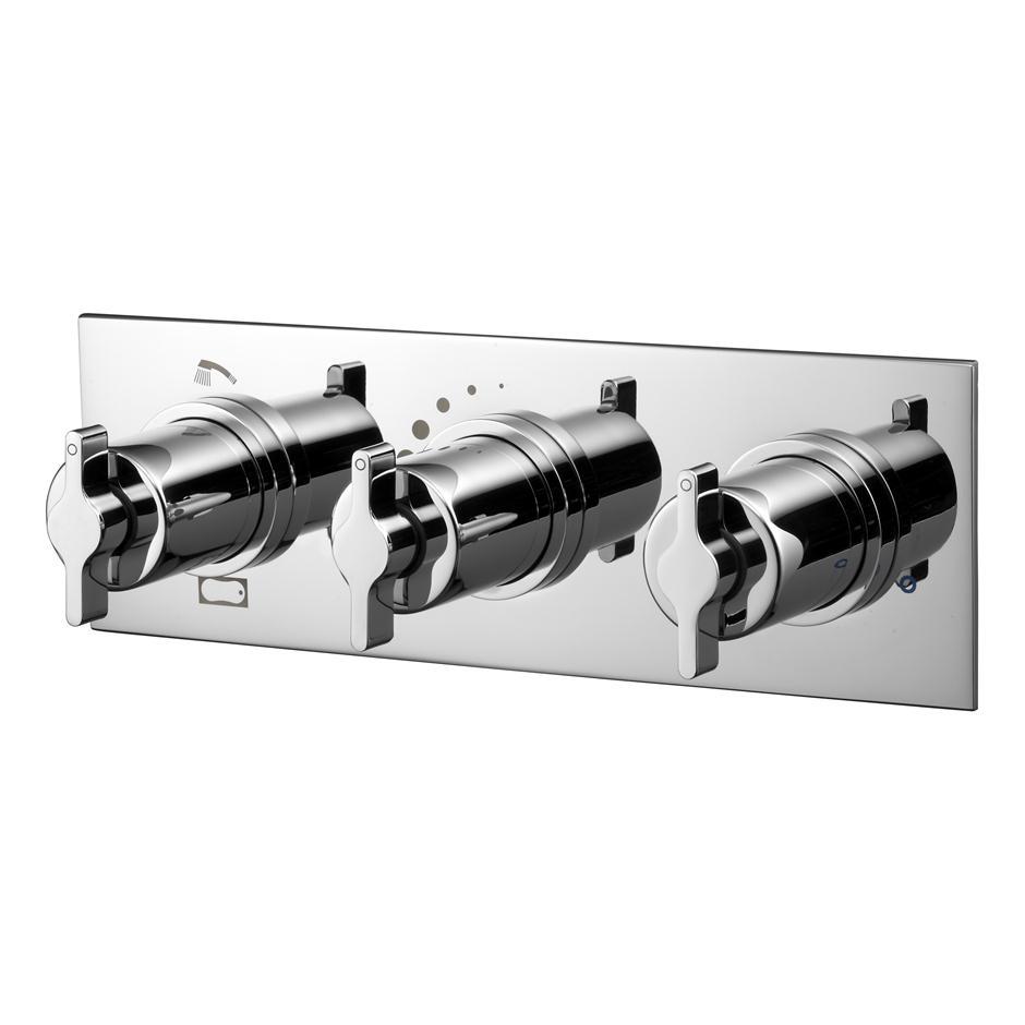 Tt Silver Built In 3 Control Bath Shower Mixer Mixers