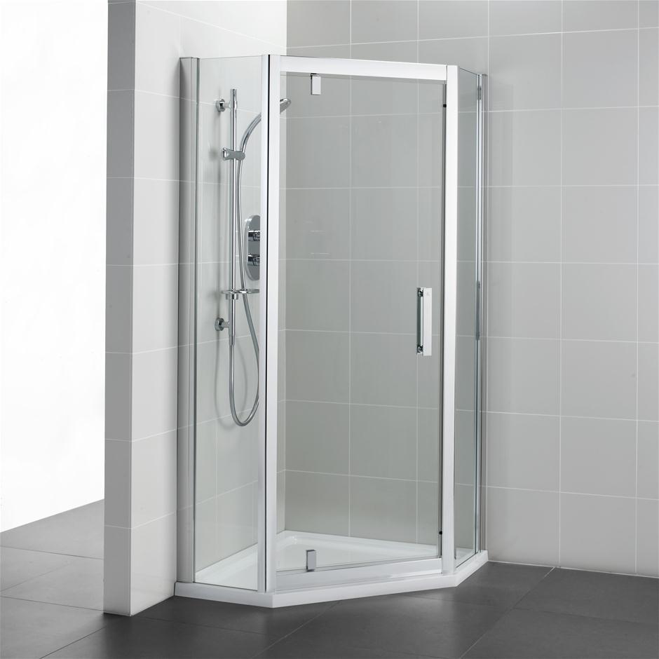Shower Door Spacers : Synergy pentagon enclosure shower enclosures