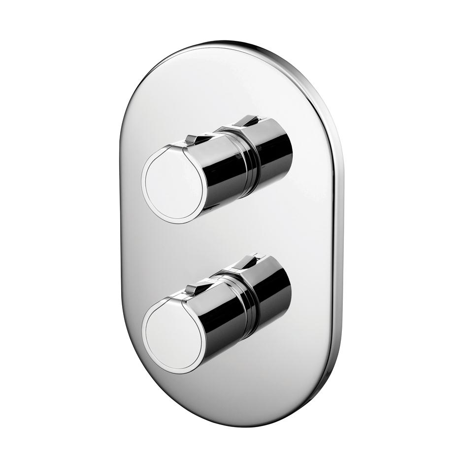 TT Built-In Thermostatic 2 Control Shower Valve Body | Ancillary ...