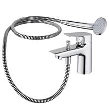 Tesi 1 hole bath shower mixer, single lever with shower set