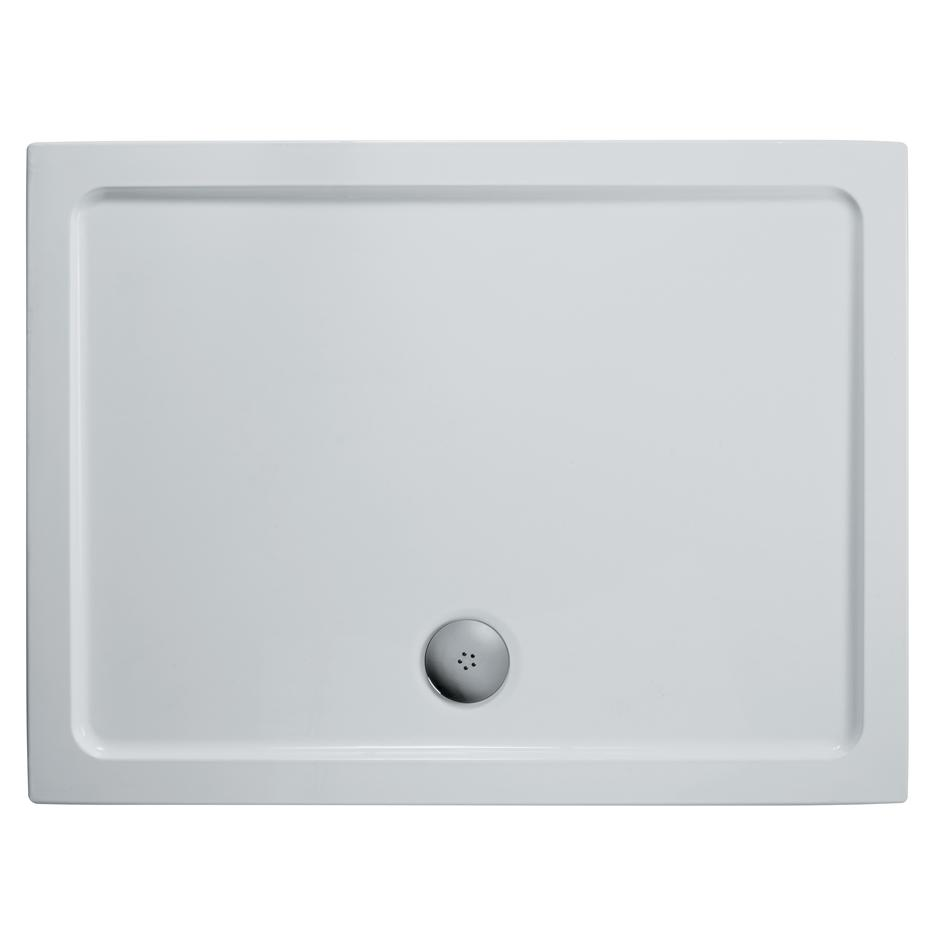 1400mm x 800mm Shower Tray Low Profile Rectangular Acrylic Capped Stone Resin
