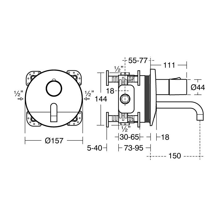 sensorflow wave thermostatic built