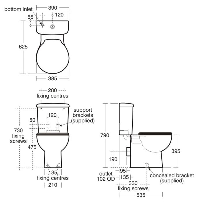 Space Close Coupled WC Suite Close Coupled WCs Bluebook